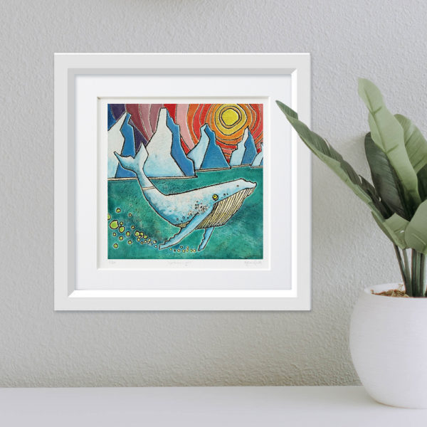 Arctic Whale framed