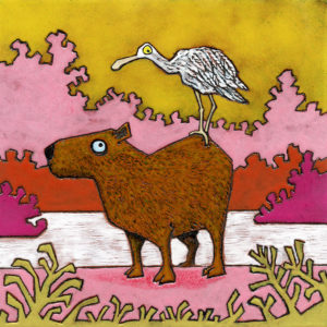 The Capybara and the Spoonbill