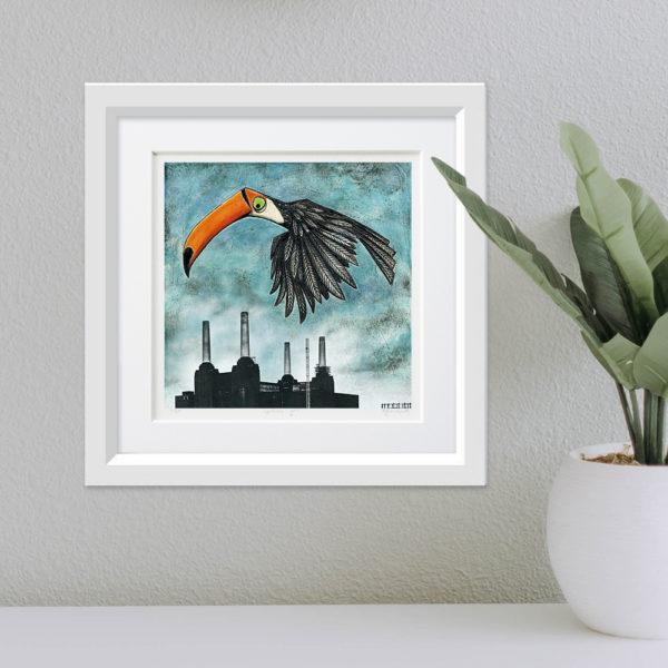Toucan over Battersea framed