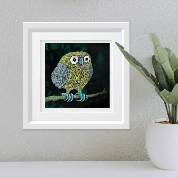 Big Owl framed