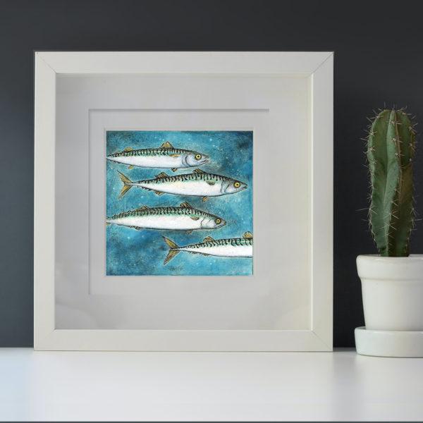 Mackerel mini framed