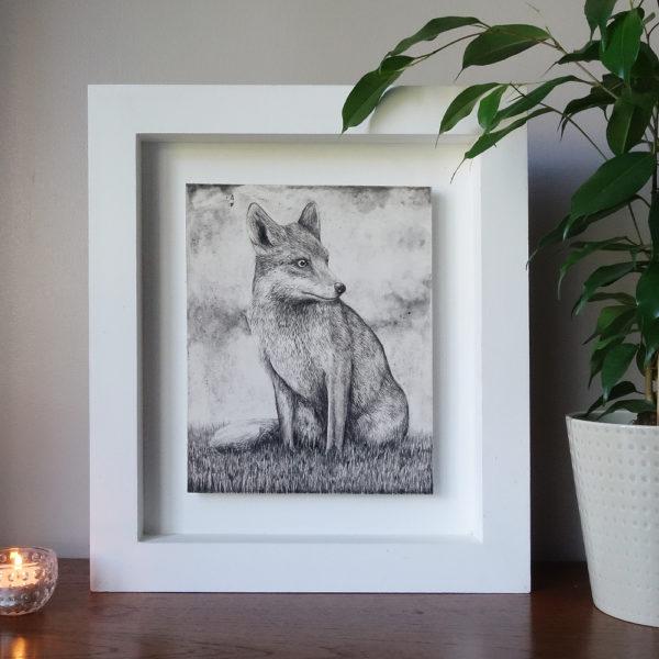 Seated fox