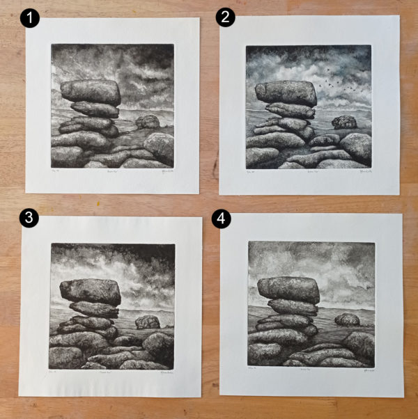 Roos Tor drypoint